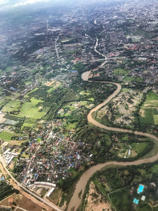 View of Chiang Mai from the airplane