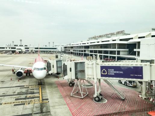 AirAsia flight from Bangkok to Bali