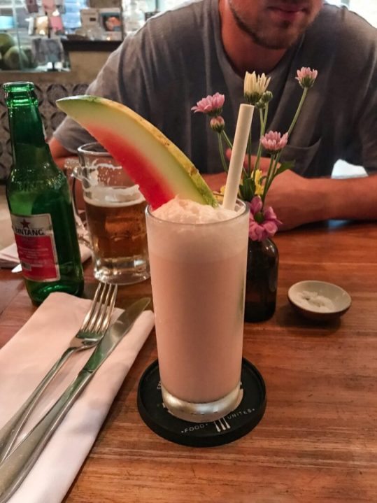 Watermelon drink at Watercress in Ubud, Bali Indonesia