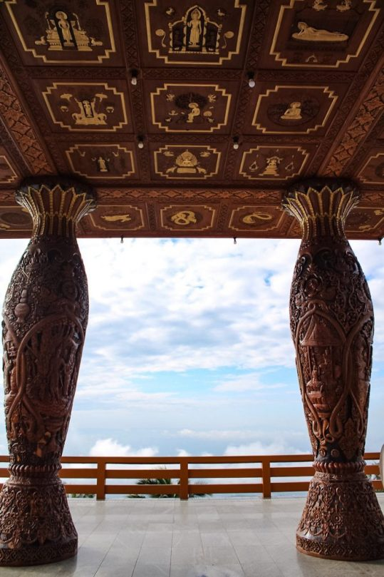 View at the top of Wat Phra That Doi Suthep