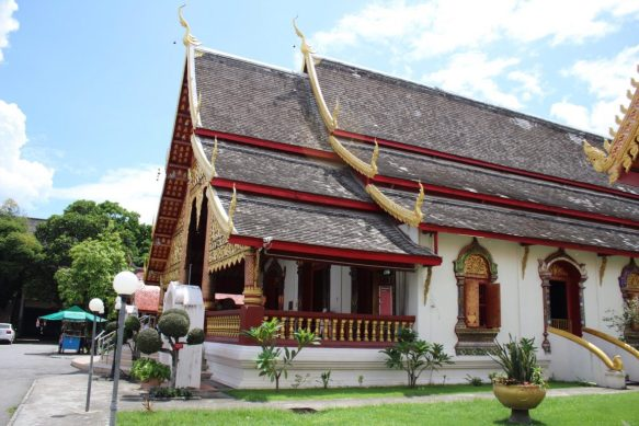 Wat Chiang Man in Chiang Mai Old City Thailand