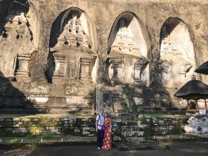 Rock face carvings at Gunung Kawi Ubud Bali