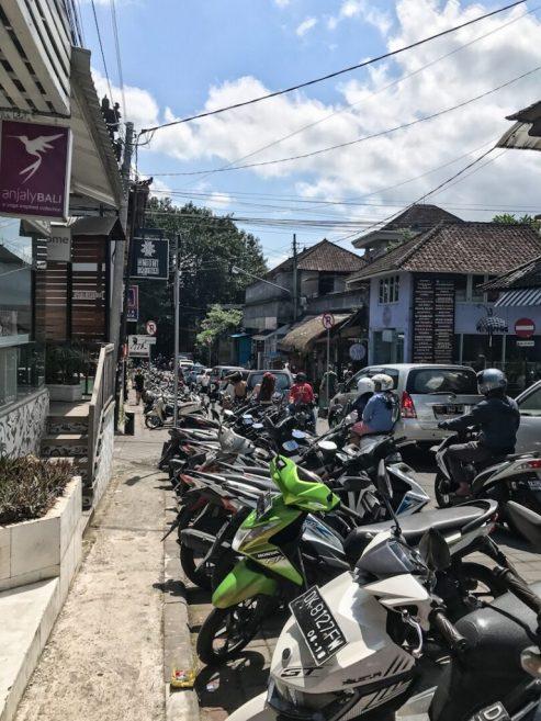 Traffic in Ubud Bali
