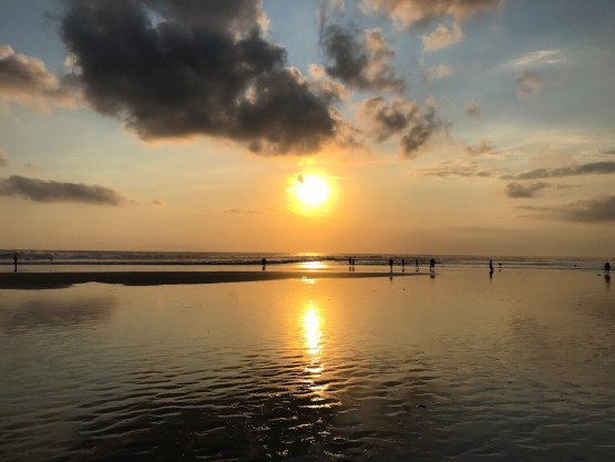 Sunset at the beach in Seminyak Bali