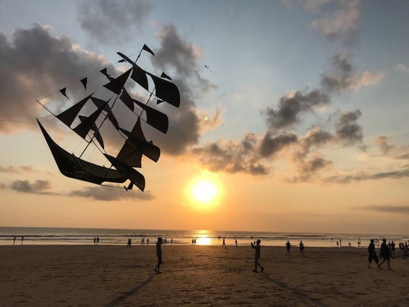 Sunset on the beach in Seminyak Bali