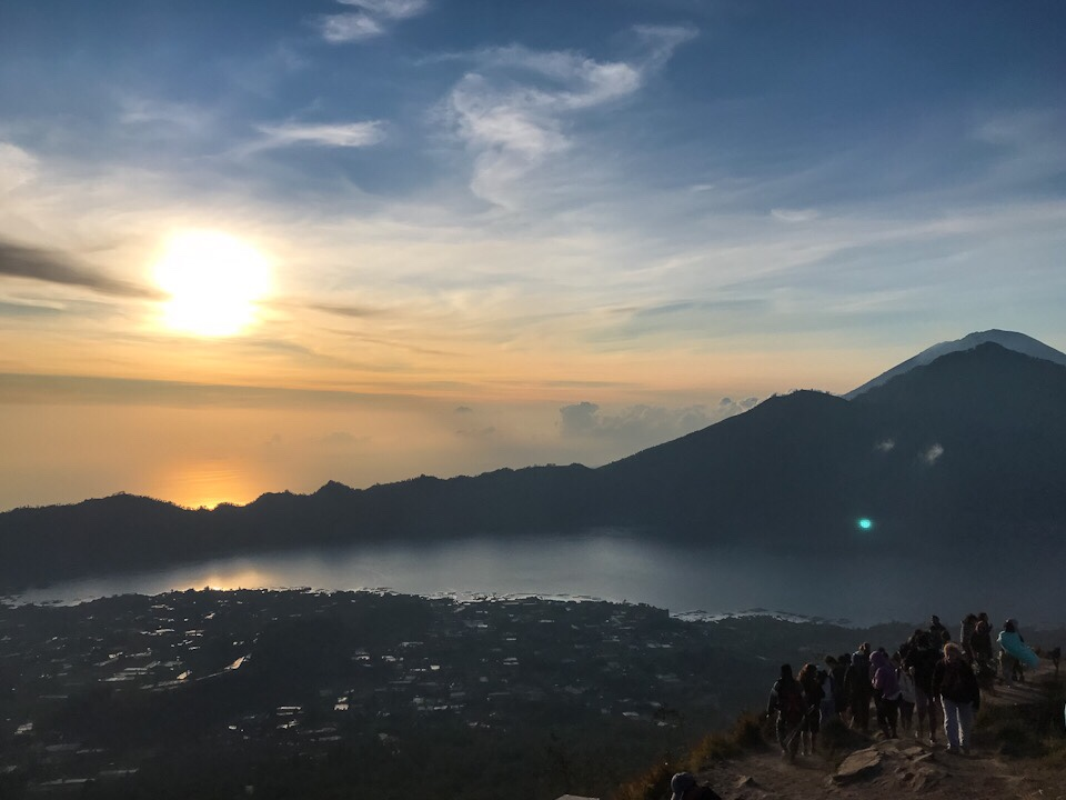 View from the top of Mount Batur