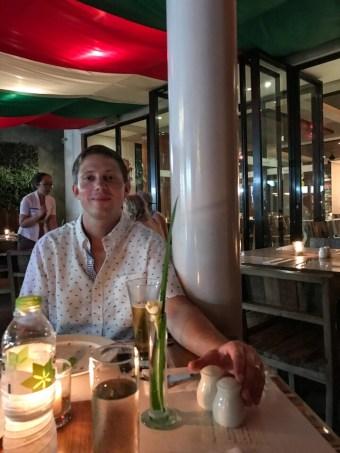 Eric at Mozzarella Restaurant in Seminyak Bali