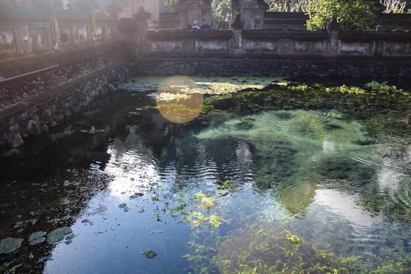 Where the spring water originates at Tirta Empul Holy Spring Ubud Bali
