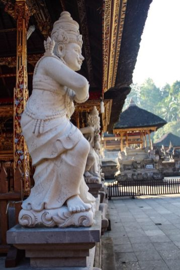 Statue at Tirtal Empul Holy Springs Temple Ubud Bali