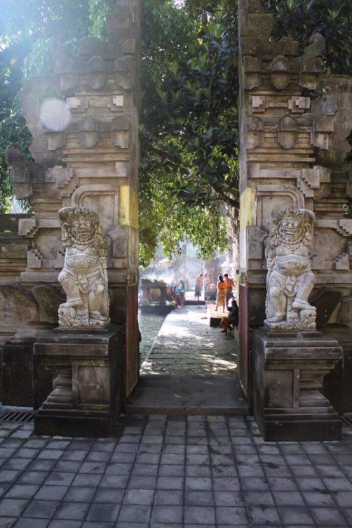 Pilgrims bathing in Holy Springs Tirta Empul Ubud Bali