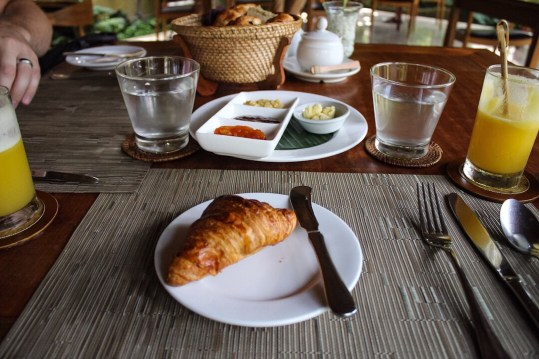 Croissant at Komaneka at Monkey Forest Ubud Bali