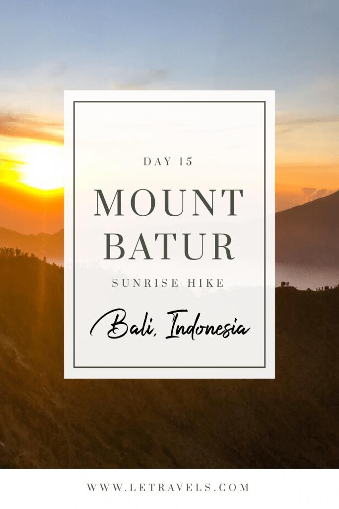 Hiking Mount Batur at Sunrise Pinterest Image