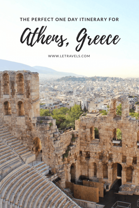 Athens, Greece in one day   All the research has been done for you. This guide will make your travel planning easy.   #athens #greece #travelplanning #travelitinerary #athensgreece #travel