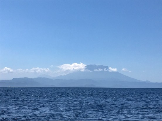 Mount Agung on the mainland of Bali