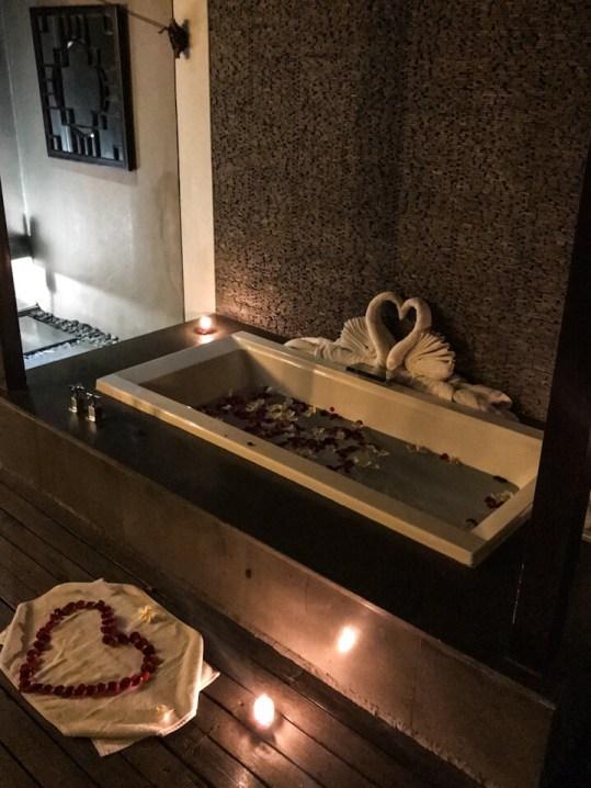 Romantic set up at The Amala Seminyak Bali