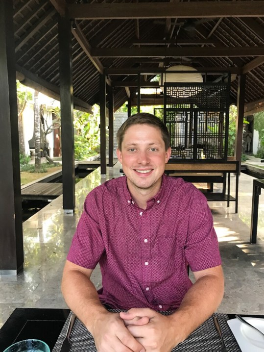 Eric eating breakfast at The Amala in Seminyak, Bali