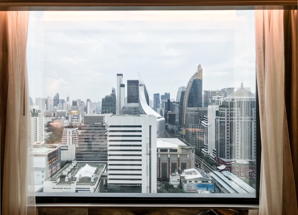 The view of Bangkok from our room at the Intercontinental Bangkok