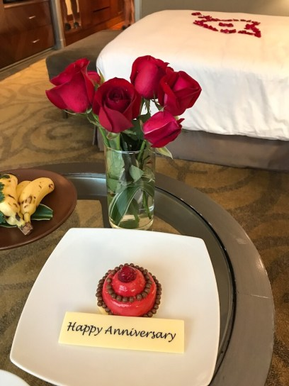 Anniversary cake from the Intercontinental Bangkok