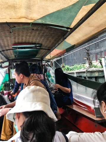 Traveling in to the heart of Bangkok by boat