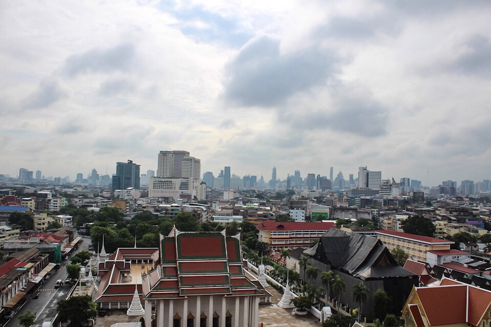 View from Wat Saket in Bangkok