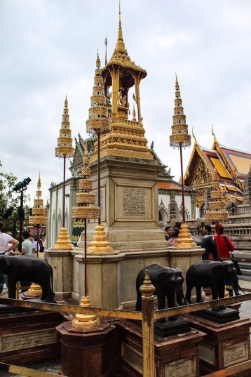 Monuments at the Grand Palace in Bangkok Thailand