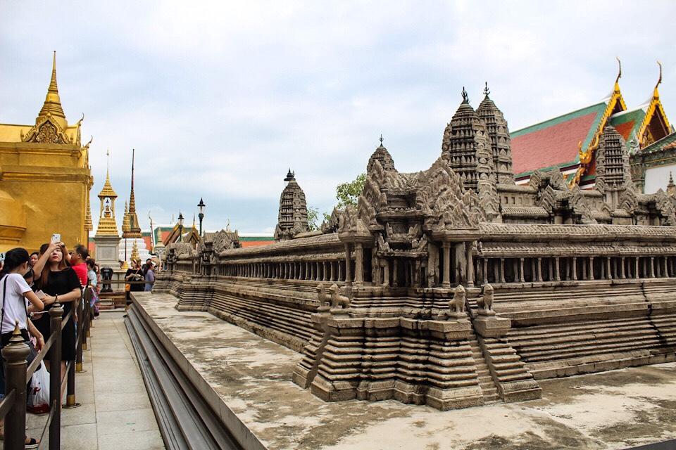 Replica of Angkor Wat at The Grand Palace in Bangkok Thailand