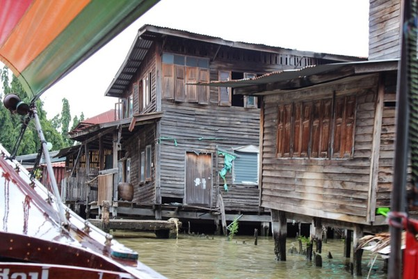 Traveling along the river in Bangkok