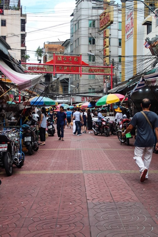Markets in Chinatown in Bangkok Thailand