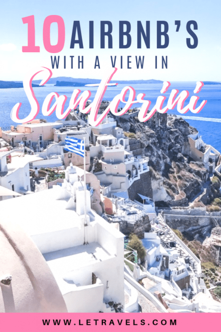 Santorini, Greece | If you think you can't afford accommodations in Santorini with a view, think again! These Airbnb's not only have a view, but most of them are very affordable. #greece #santorini #airbnb #travelguide