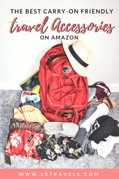 Carry-on Friendly Travel Products on Amazon | I have personally used every single thing on this list. If you like to travel light, this list is for you! #travelproducts #travelguide #amazon #travellight