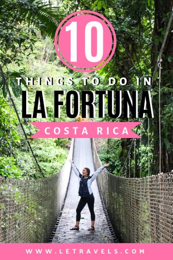 La Fortuna, Costa Rica | 10 Things to do in La Fortuna | See sloths, hike in a rainforest, cook delicious Costa Rican food | #costarica #lafortuna #travelguide
