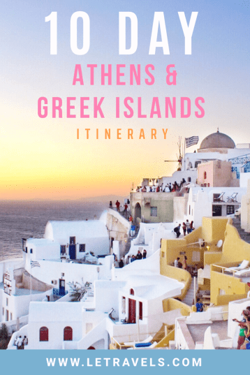 Athens and Greek Islands Itinerary | Travel tips for an incredible 10 day trip to Greece | #athens #santorini #greece #paros #traveltips #greeceitinerary