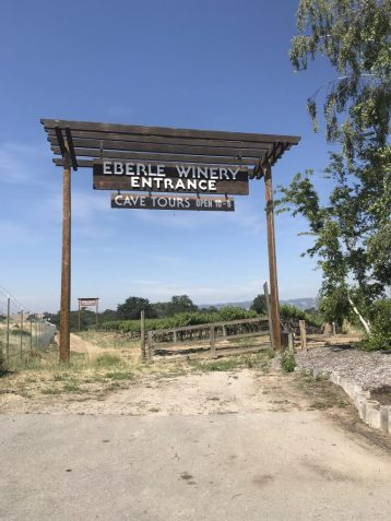 Entrance to Eberle Winery in Paso Robles California