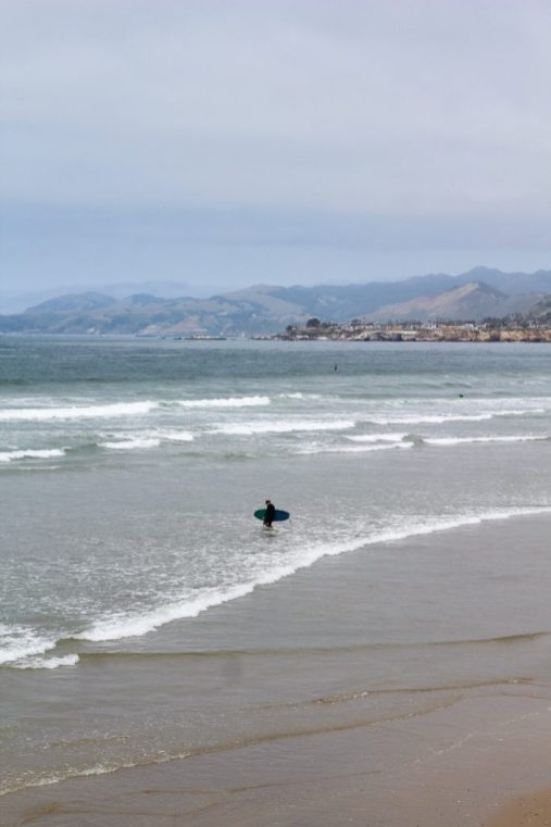 Surfer in Pismo Beach California