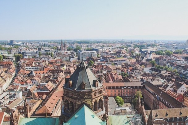 View from the Cathedral Notre Dame de Strasbourg