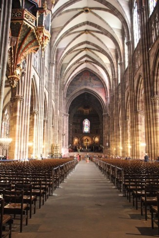 Inside the Cathedral in Strasbourg, France