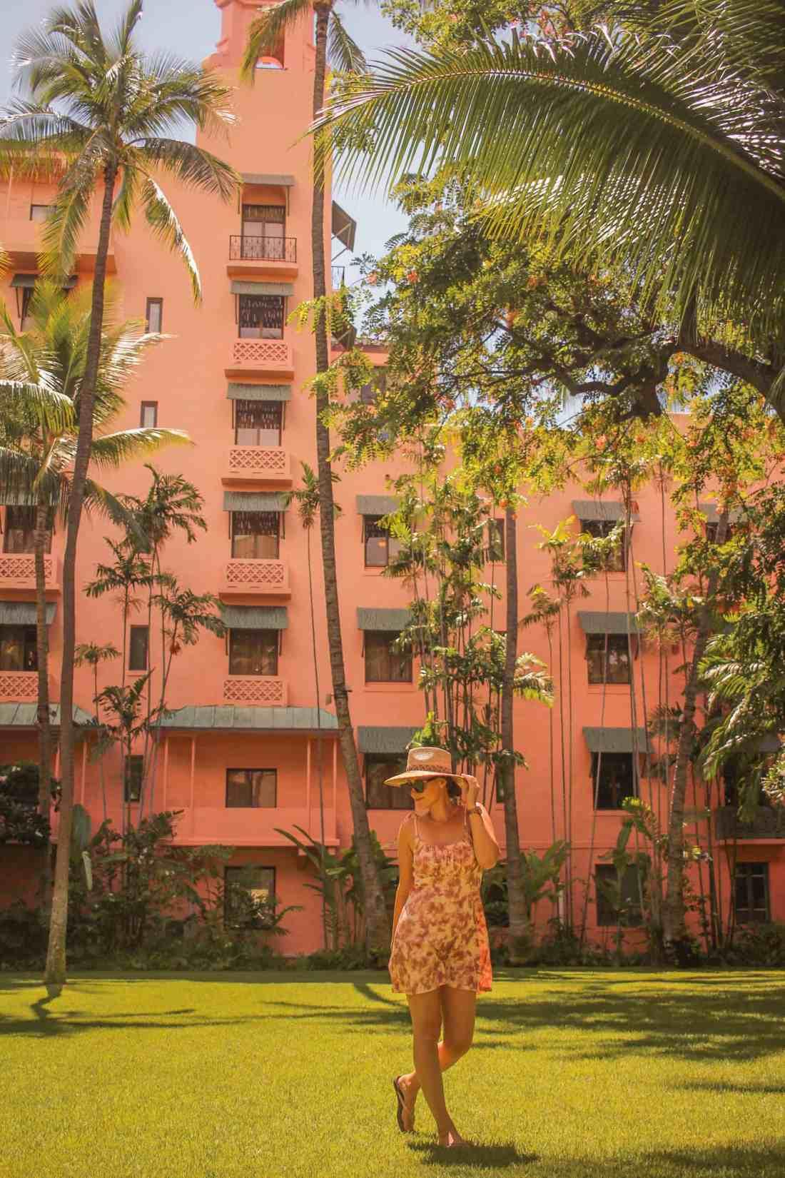 the royal Hawaiian hotel in Waikiki