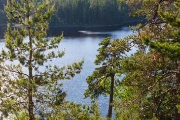 Utsikt över Falkasjön, från Falkaberget
