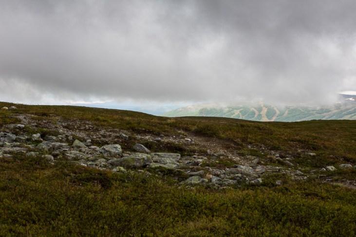 Dimmig morgonutsikt mot Ramundberget