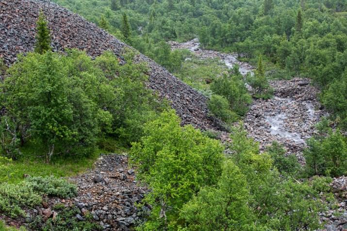 Stenhögar vid Bielkes gruva