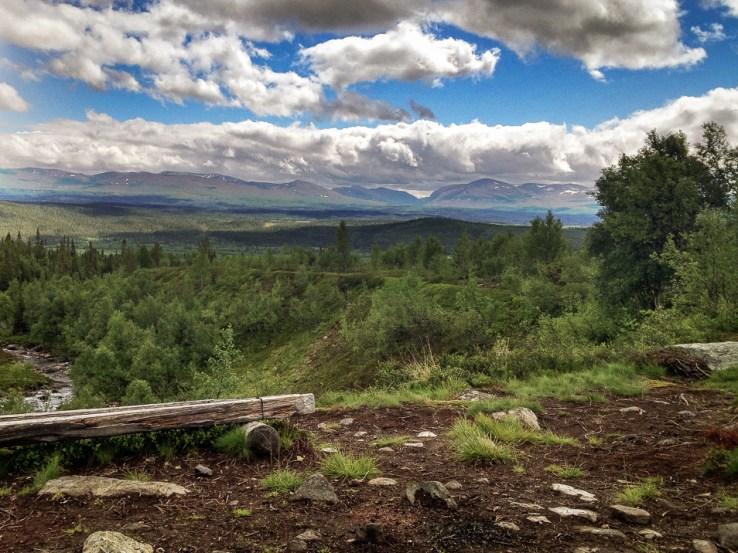 Utsikt från rastskyddet på Ottfjället