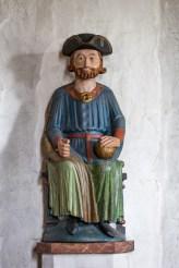 Staty av St Olof i Åre gamla kyrka