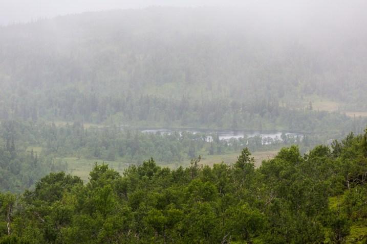 Dagen var dimmig och regnig