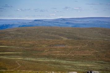 Utsikt bakåt från Stuorajåbba