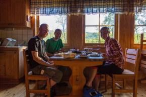 Middag med Johanna i Rävfallsstugan
