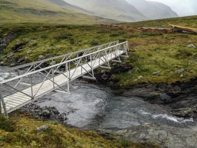 Den nya bron över Gaskkajohka