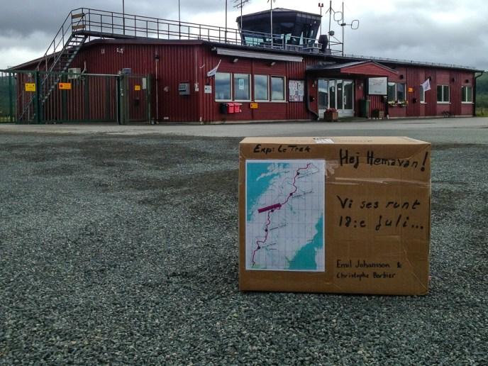 Paketet vid Hemavans flygplats