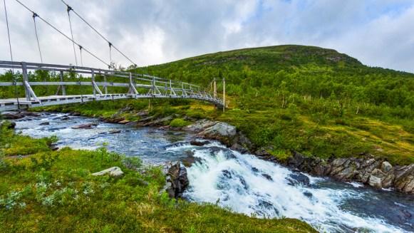 Vattenfallet vid bron över Servvejuhka