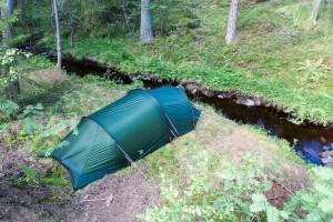 Fin tältplats vid Bäckelid