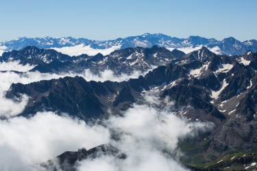 Bergskedjan från Pic du Midi